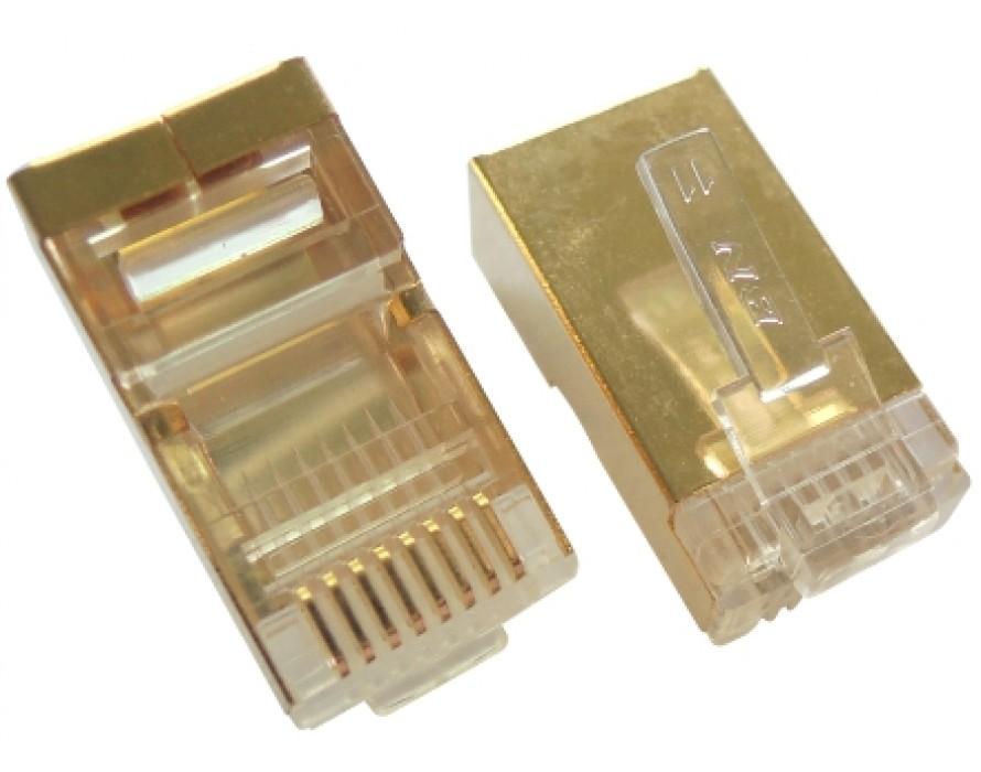 Modular Plug RJ45 8P8C Golden shielded
