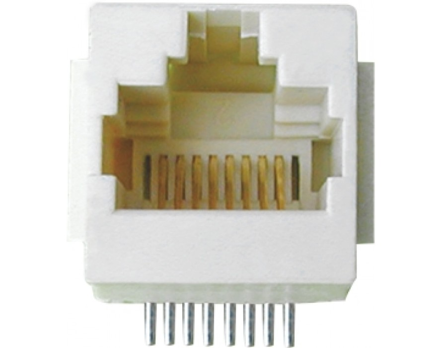 Modular Jack 012N-8P RJ45 SMT top entry type