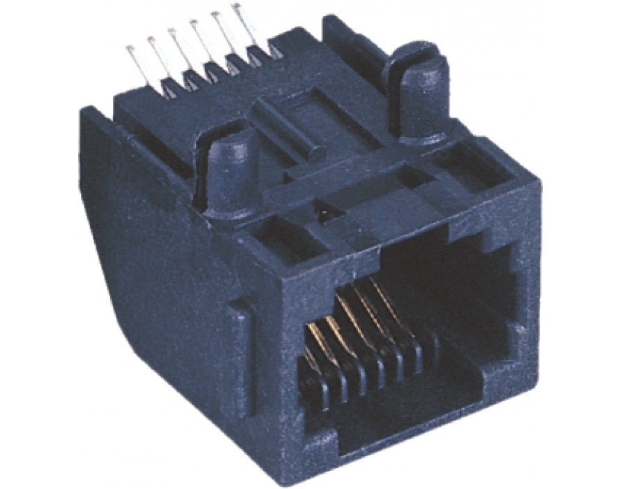 Modular Jack 035-6P RJ11 SMT Side entry type