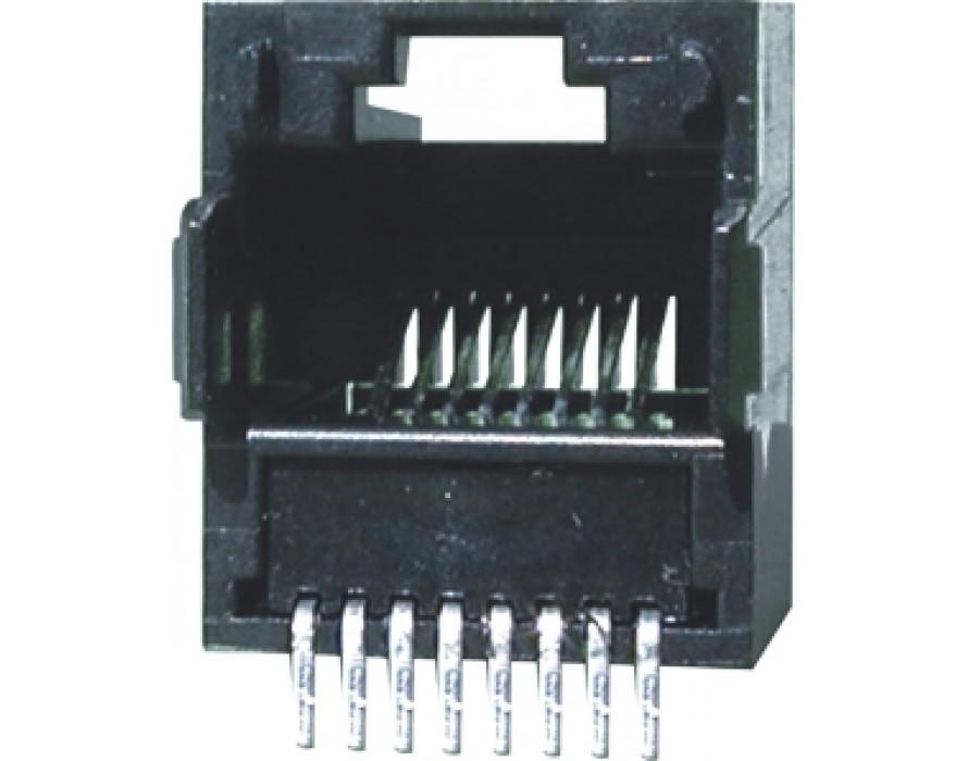 Modular Jack 044-8P SMT type Bottom entry