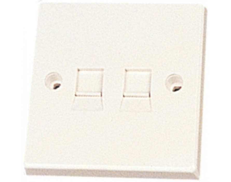 86X86 2 Ports Wall Plate 1209
