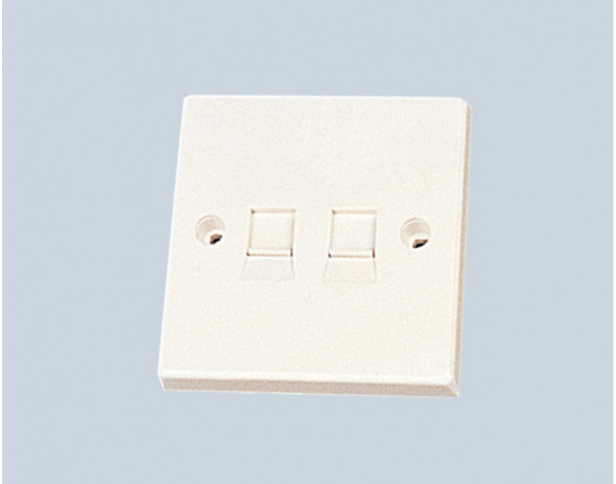 2 Ports Faceplate for Keystone JACK 86X86