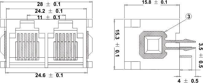 modular jack 002n